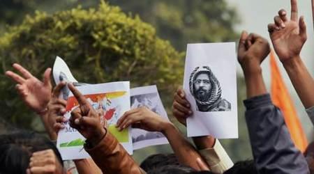 ABVP activists protest