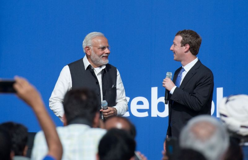 Image for Modi in US_Zuckerberg