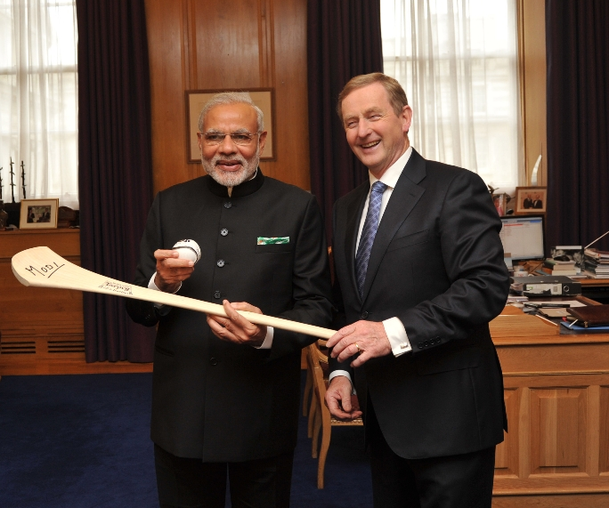 Modi US Visit_With Enda Kenny Ireland